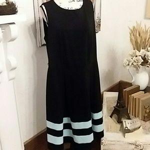 Calvin Klein A-Line Dress, Flattering, Sz 16W